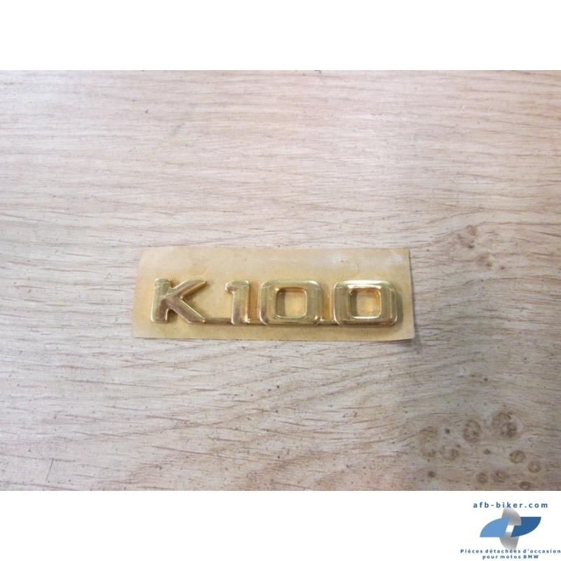 Emblème neuf de cul de selle de BMW k 100 doré