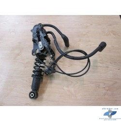 Mécanisme levier genoux avec câble + dispositif  d'arrêt + amortisseur avant en bon état, vérifiés.