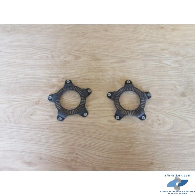 Les deux anneaux d'abs en état moyen,pour abs avant et arrière.