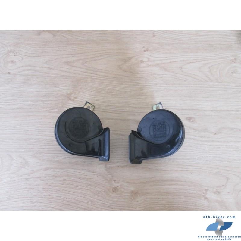 Deux klaxons de BMW k 1100 lt / rs - k 100 rs 1 / lt / rt / rs - k 75 rt