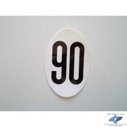 "AUTOCOLLANT OVALE VITESSE ""90"""