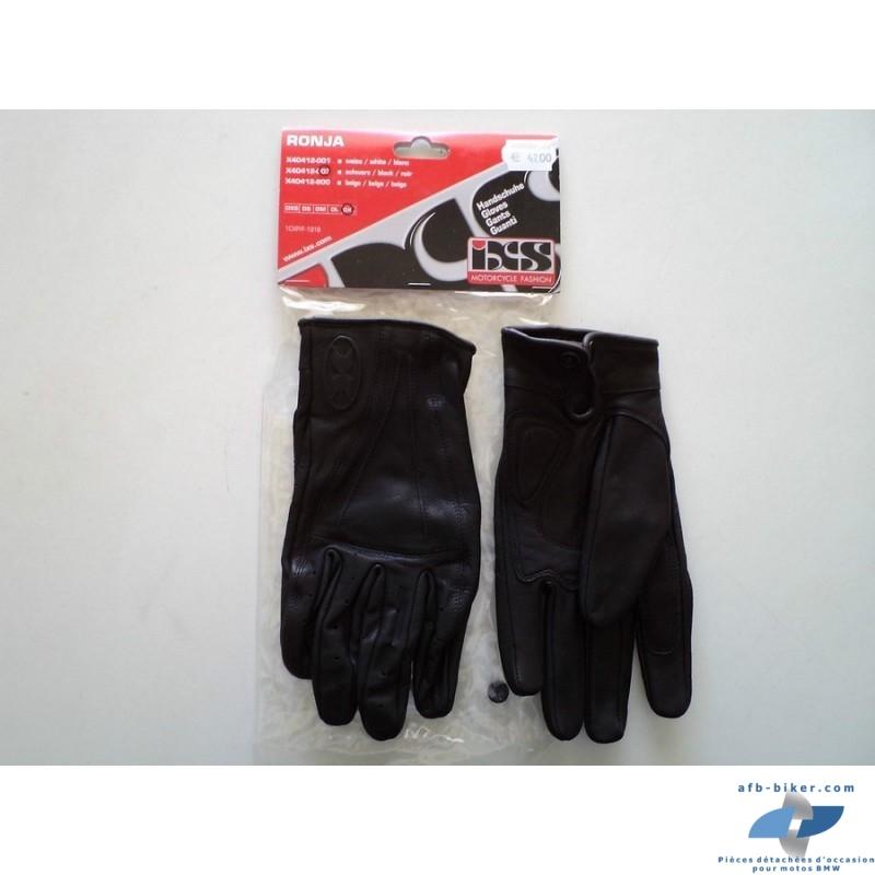 Les gants moto sont neufs, en cuir et en petite taille 8
