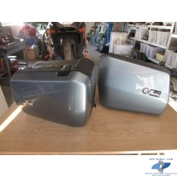 Valises touring bleu gris de BMW k 1100 / k 100 / k 75
